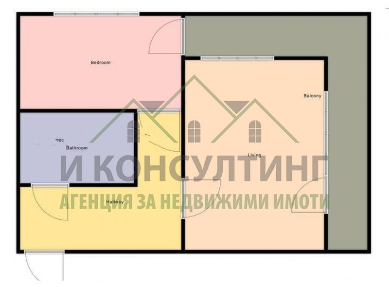Продажба 2-стаен гр. София - Дървеница 69m²