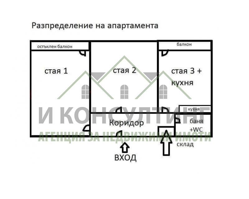 Продажба 2-стаен гр. София - Красно Село 77m²