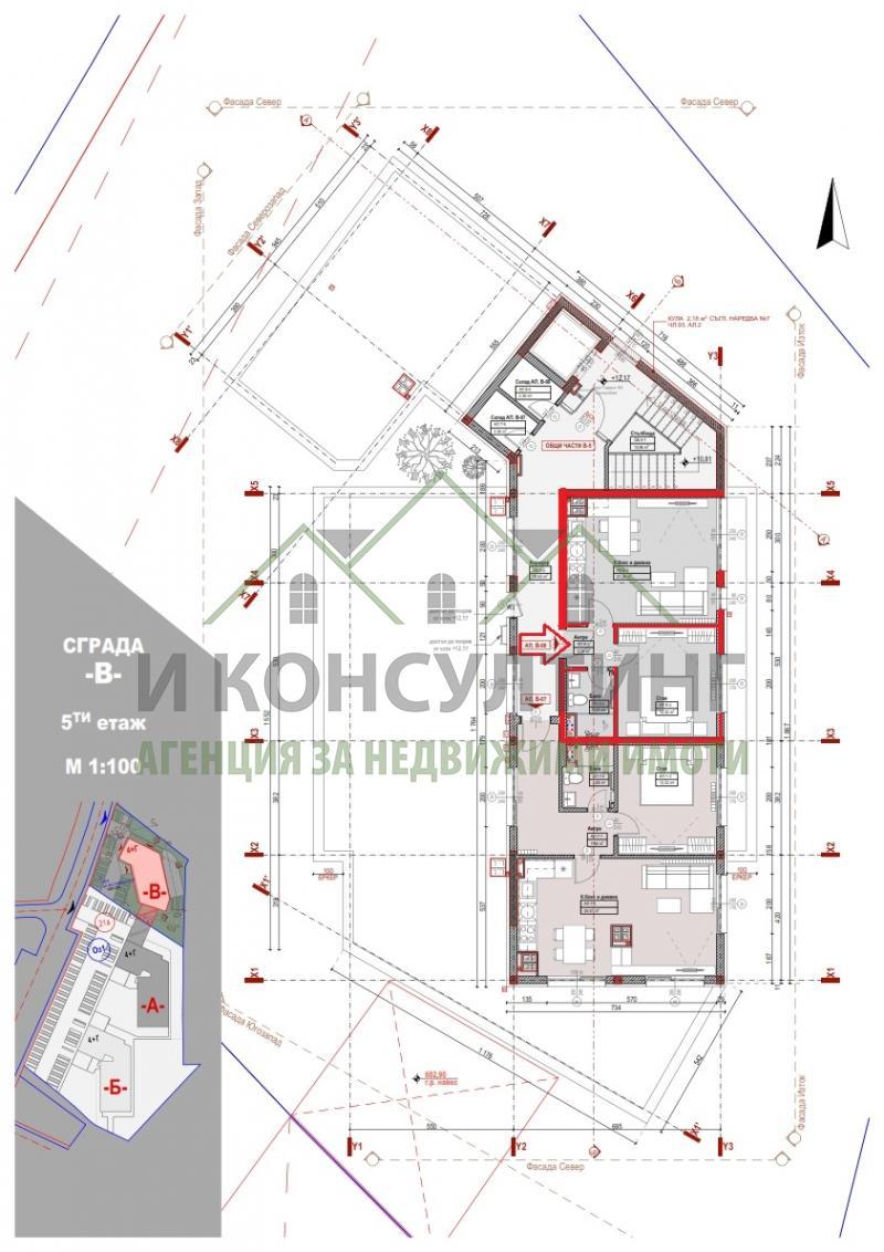 Продажа 2-комнатная гр. София - Младост 3 57m²