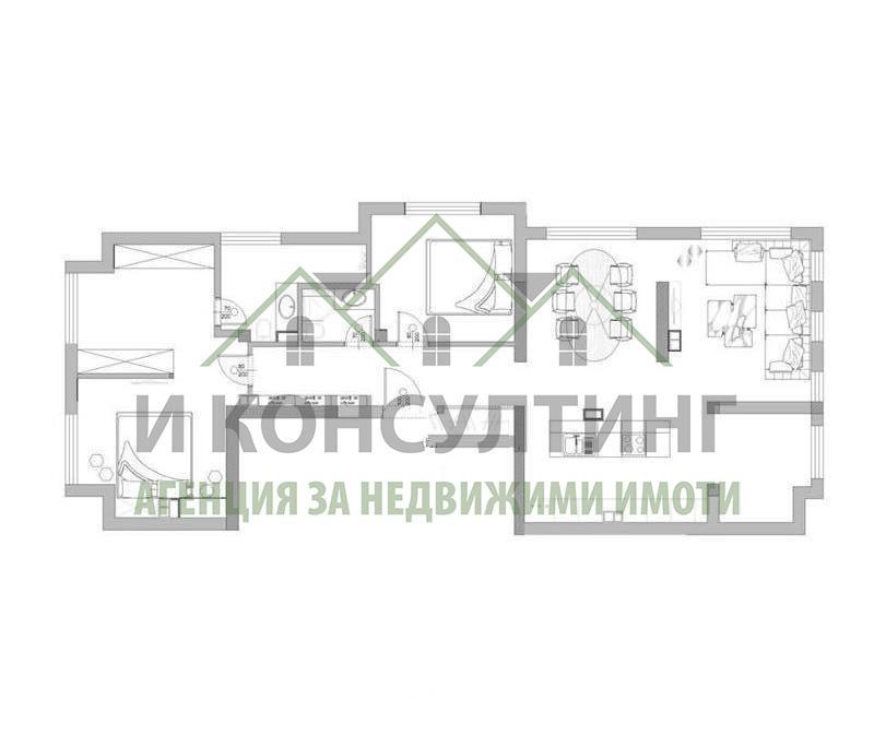 Продажба 3-стаен гр. София - Хиподрума 144m²