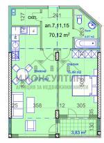 2-стаен, София,<br />Манастирски Ливади, 83 м², 95 990 €<br /><label>продава</label>