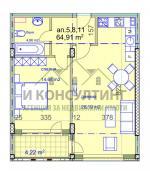 2-стаен, София,<br />Манастирски Ливади, 79 м², 103 350 €<br /><label>продава</label>